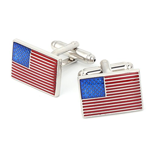 Army Set Cufflinks - Wivily USA America Flag Men Jewelry Wedding Party Shirt Cufflinks Novelty Cuff Links