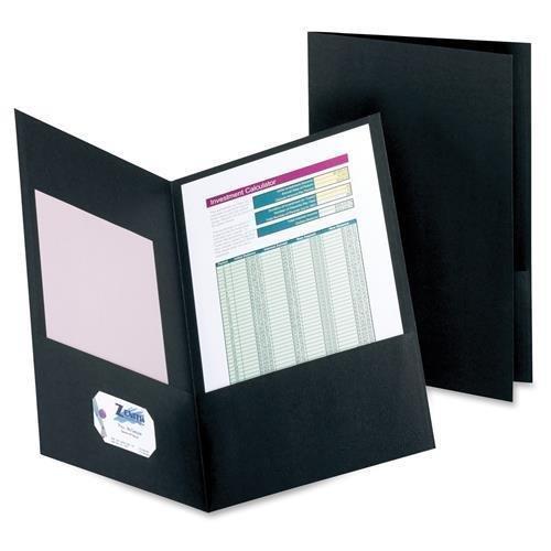 Oxford Twin-Pocket Folder, Legal, 100 Sheet Cap., 25/BX, Black (50127-05)