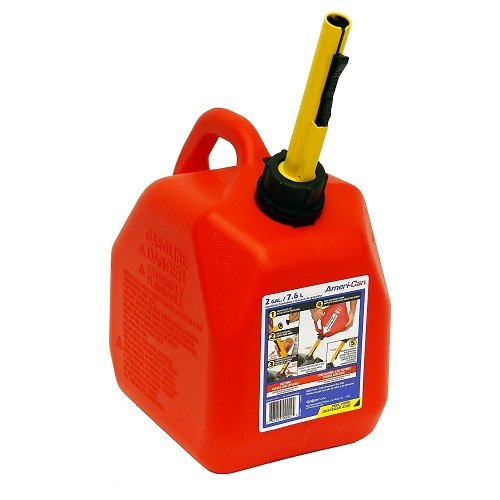 Scepter 2 Red 2 Gallon Spill-Proof Gas Can Container (AB10S)
