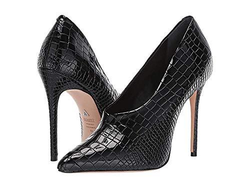 SCHUTZ Womens Gleide Black Croco Verniz Shine 8.5 ()