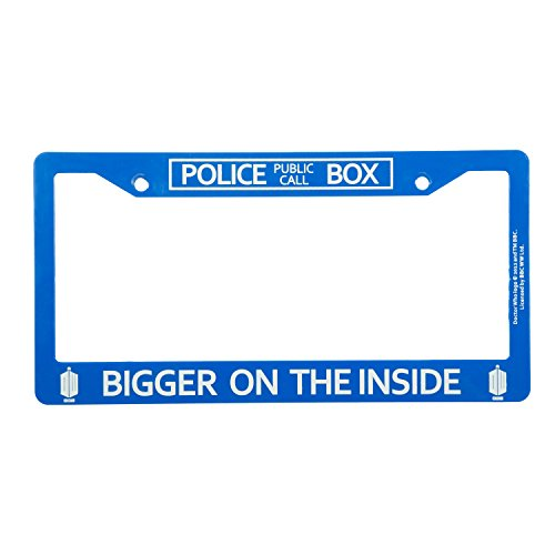 Doctor Who License Plate Frame - Bigger on The Inside Tardis Design, 6.25
