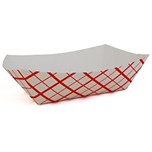Southern Champion Tray 0433 #1000 Southland Paperboard Red Check Food Tray, 10-lb Capacity (Case of 250)