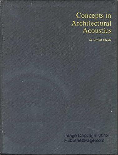 concepts in architectural acoustics m david egan 9780070190535