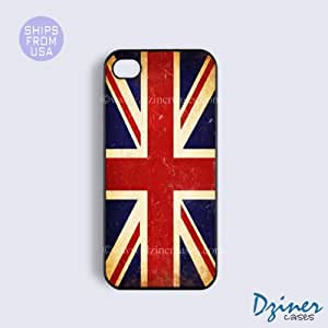 iPhone 4 4s Case - Vinatge UK Union Jack Flag iPhone Cover