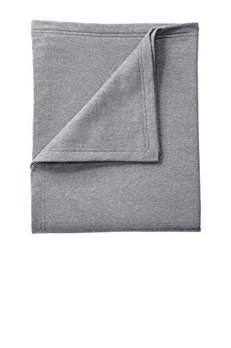 (Port & Company Core Fleece Sweatshirt Blanket. BP78 Athletic Heather OSFA)