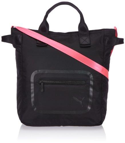 PUMA Damen Schultertasche Dazzle Shopper, Black-Fluo Pink, 32 x 37 x 13 cm, 072343 05