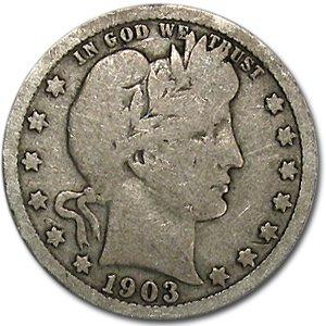 1903 Barber Quarter Good/VG Quarter Good