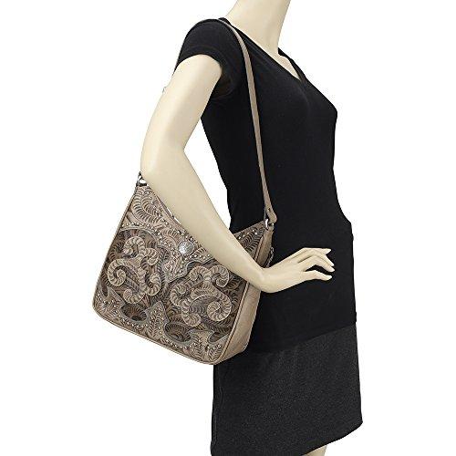 Hobo Leather Shoulder Bundle Blue Concealed Handbag West L American Purse Carry Holder Cxq5ABnwI