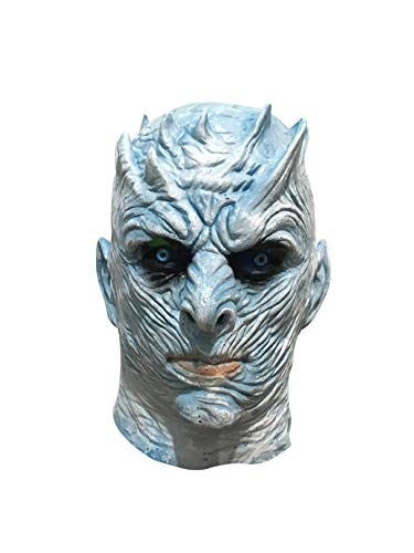 Nuoka Halloween Latex Party Mask Full Head Creepy Props Night's King Mask (Picture Color) -
