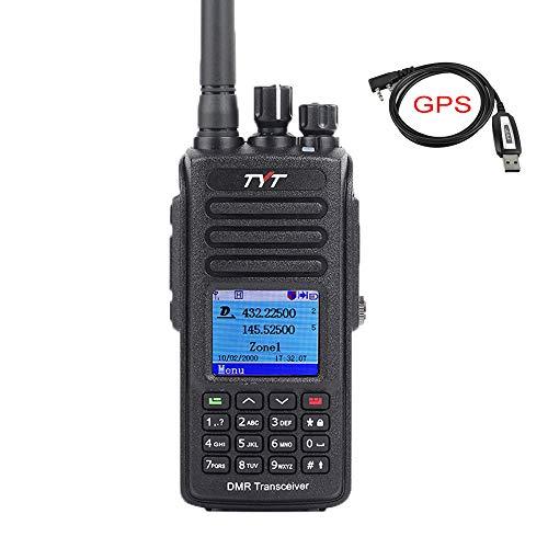 Uhf Gps - TYT MD-UV390 Dual Band 136-174MHz/400-480MHz GPS Handheld Two Way Radio VHF/UHF Ham Amateur