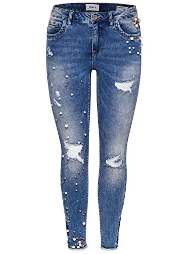 Bleu Light Blue Jean Denim Femme Skinny Denim Blue Only Light xwt0TZZ