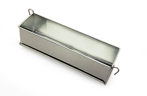 Pate Terrine Mold with hinges, Tinned Steel, 3'' Wide x 3'' High - 20'' Long by Gobel
