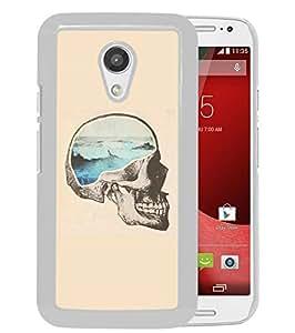 Moto G 2nd gen Case,Creative Brainwave Analogy Motorola Moto G 2nd gen Case White Cover
