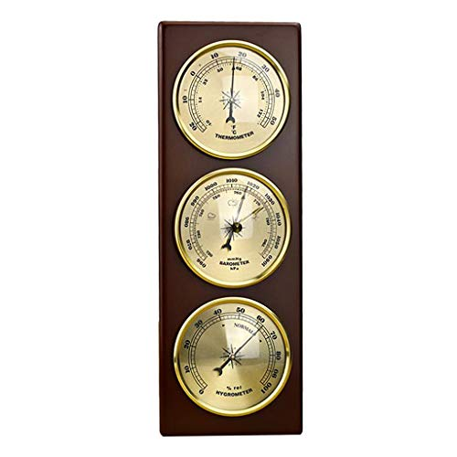 Almencla Wall Barometer Thermometer Hygrometer Weather Station Hanging Home/Office Metal ()
