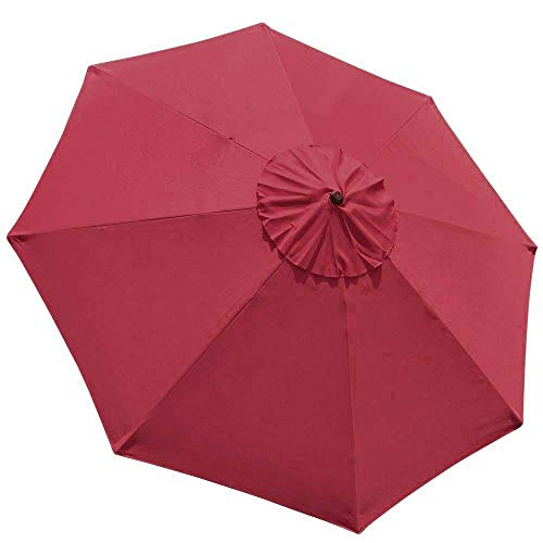 - EliteShade 9ft Patio Umbrella Market Table Outdoor Deck Umbrella Replacement Canopy (Burgundy)