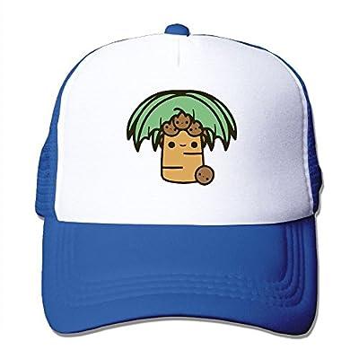 Men/Women Palm Tree with Coconuts Mesh Snapback Hats Adjustable Hip Hop Caps