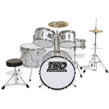 tko tko101s 5 piece complete junior drum set silver musical instruments. Black Bedroom Furniture Sets. Home Design Ideas