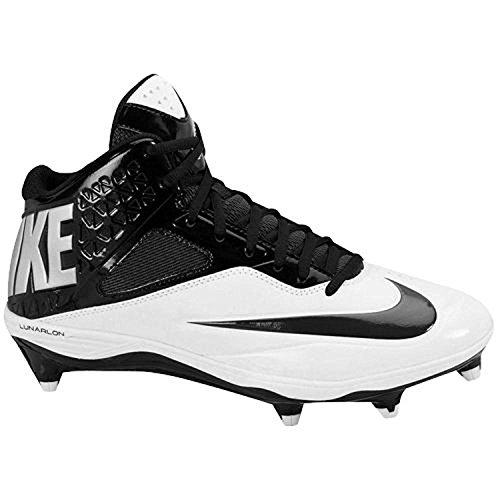 Nike MenS Code Pro 3/4 Detachable Football Cleat, Negro/Blanco, 47.5 D(M) EU/12.5 D(M) UK