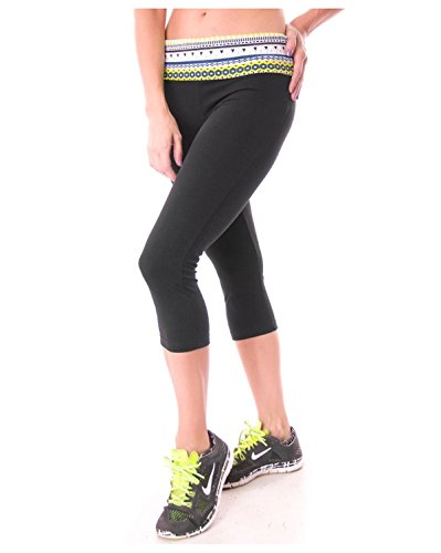 G2 Chic Women's Seamless Capri Length Yoga Stretch Pant(ACT-PNT,DBLA1-XL)