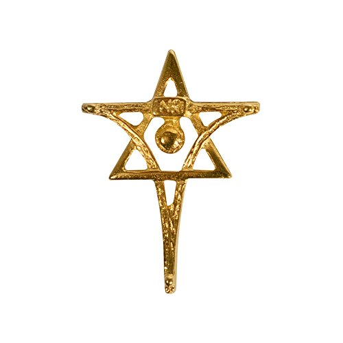 Messiaca Inri Lapel Pin/Brooch Messianic Christian Cross and Star of David (Gold Alloy) -