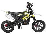 DR-X Kids Dirt Bike Holeshot-X 50cc Gas Power Mini Dirt Bike 20inches Seat Height Dirt Off Road Motorcycle, Pit Bike Fully Automatic, Yellow