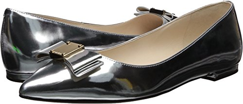 Bow Skimmer - Cole Haan Women's TALI Bow Skimmer Ballet Flat, ch Argento, 7 B US