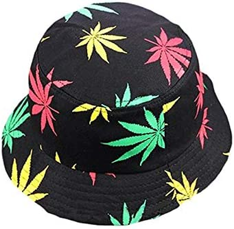 Renquen Cotton Hats Mens Caps Unisex Maple Leaves Bucket Hats