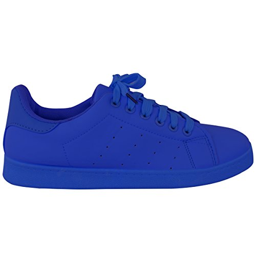 Royal Pumps Retro Blue Mode Sport Schnürschuhe Sneakers Klassiker Heelberry® Damen Durstig Größe Damen wTzxTBaP