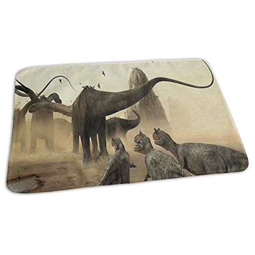 Changing Pad Hunting Raptor Desert Brontosaurus Baby Diaper Urine Pad Mat Cool Kids Mattress Cover Sheet for Any Places for Home Travel Bed Play Stroller Crib Car