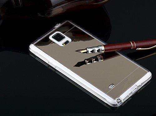 newest 3a73e c19a2 Galaxy Note 4 Case,Inspirationc® Samsung Galaxy Note 4 Luxury Bumper Super  Slim Mirror Case for Samsung Galaxy Note 4 Aluminum Mirror Case ...