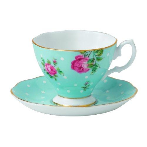 Royal Albert Polka Blue Vintage Espresso Cup and Saucer (Royal Blue Espresso Cup)