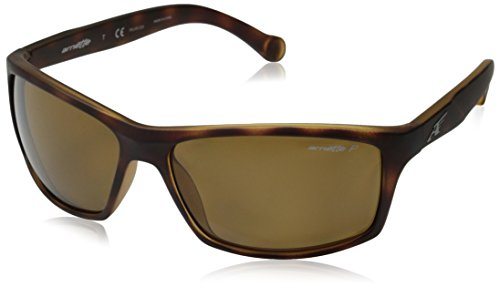 Arnette Boiler Rectangular Sunglasses, Brown, 61 mm