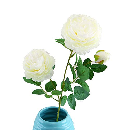 Miss Xin 10PCS Artificial Flowers Fake Silk Flowers 3 Heads Rose Wedding Bouquet Flower Arrangement for Home Decor Party Floral Centerpieces Decoration
