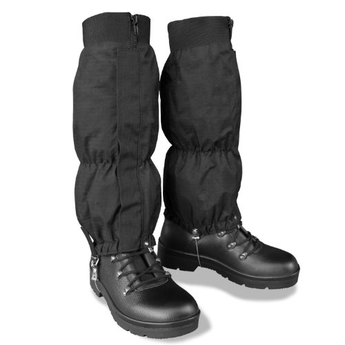 Wetness protection gaiters MT-Plus, steel cable, fishing, hiking, paintball tactical, rain forest, marshland hunting, moisture-protection gaiters, black by CamoOutdoor