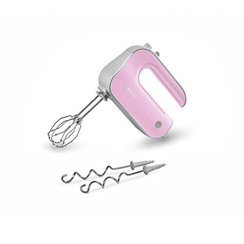 Bosch Styline MFQ4 MFQ4-Batidora de repostería, Motor, Varillas batidoras FineCreamer, garfios amasadores, Colores Rosa pastel/plata, 500 W, 5 ...