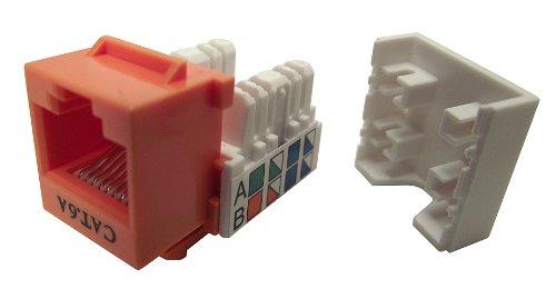 UPC 813020011556, Shaxon BM803O810-B, Category 6A Keystone Jack, RJ45 to 110 - Orange