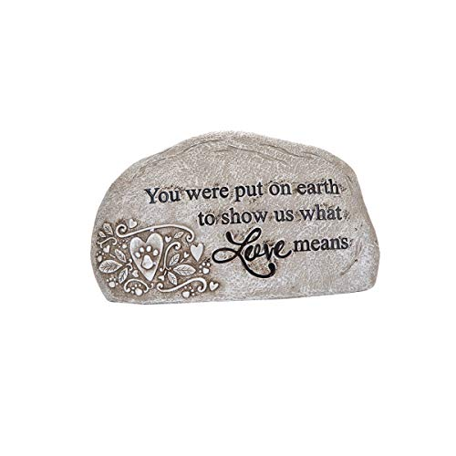 (Topadorn Memorial Garden Stepping Resin Stone,Decorative Stones for Your Garden or Lawn)