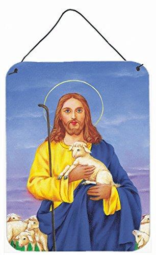 Caroline's Treasures Jesus The Good Shepherd Holding a Lamb Wall or Door Hanging Prints AAH8215DS1216 16HX12W Multicolor ()