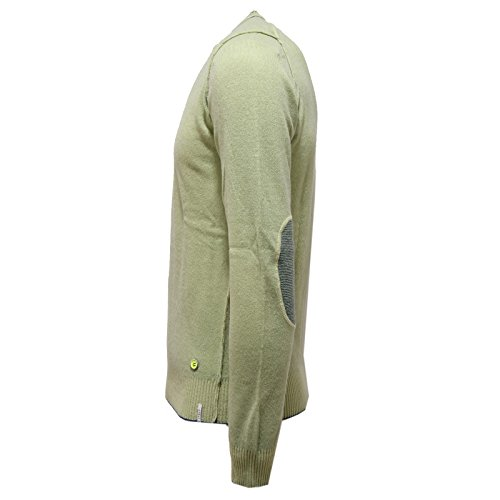V Uomo Lana Maglione Men Shockly 1880v Wool neck Sweater Green Verde qn05xwx1