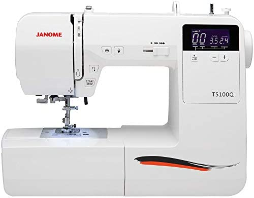 Máquina de coser Janome TS100Q, color blanco: Amazon.es: Hogar