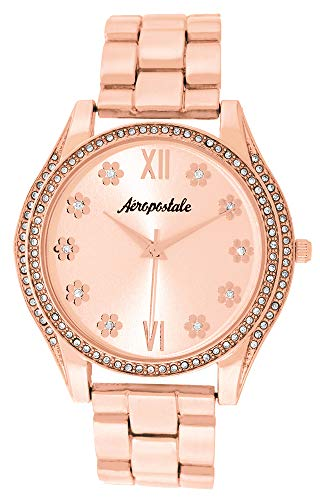 Aéropostale Women's Quartz Rose Gold Metal Watch - Flower Dial - Casual FashionWatch from Aéropostale