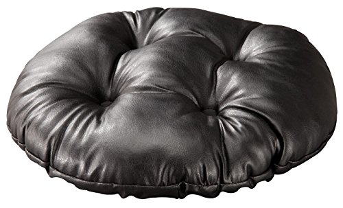 WalterDrake Faux Leather Tufted Bar Stool Cushion