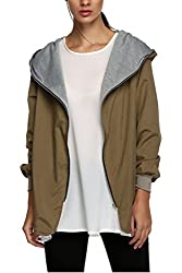 Zeagoo Women Boyfriend Oversize Zip Coat Hoodie Cardigan Windbreaker Outerwear Jacket Us S 6 Uk 8 Eu 36 Au 10 Army Green Fba