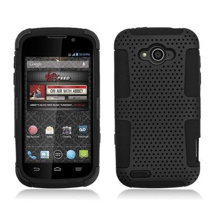 AIMO Progressive Hybrid Gummy Mesh Defense Case for ZTE Reef N810 [Virgin Mobile]
