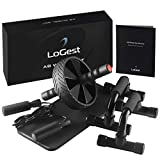3 in 1 AB Wheel Roller Kit Push-Up Bars, Jump Rope and Knee Pad, ABS Workout Guide - Abdominal Core...