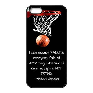 Basketball Never Stops iPhone 5 5s 5G Back Plastic Case Cover