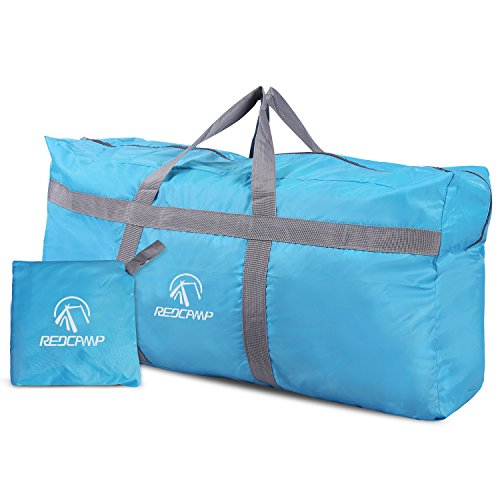 (REDCAMP 96L Extra Large Duffle Bag Lightweight, Water Resistant Travel Duffle Bag Foldable for Men Women, Blue)