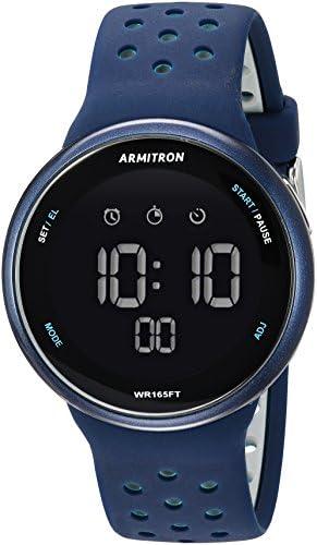 Armitron Sport Unisex Digital Chronograph Silicone Strap Watch, 40/8423