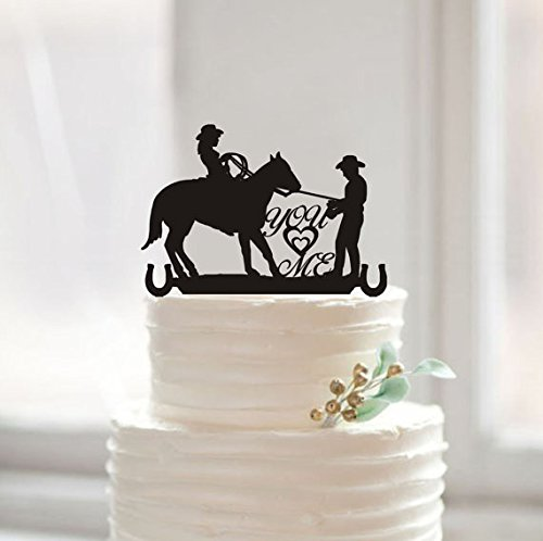 Country Western Wedding Silhouette Cake Topper You &