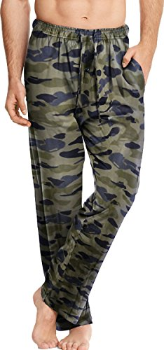 Hanes Men's ComfortSoft Cotton Printed Lounge Pants_New Camo_Large